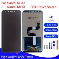 Xiaomi Mi A2 MIA2 LCD 디스플레이 터치 스크린 디지타이저 Xiaomi MI 6X MI6x 전화 부품 LCD 디스플레이 용 기존 LCD