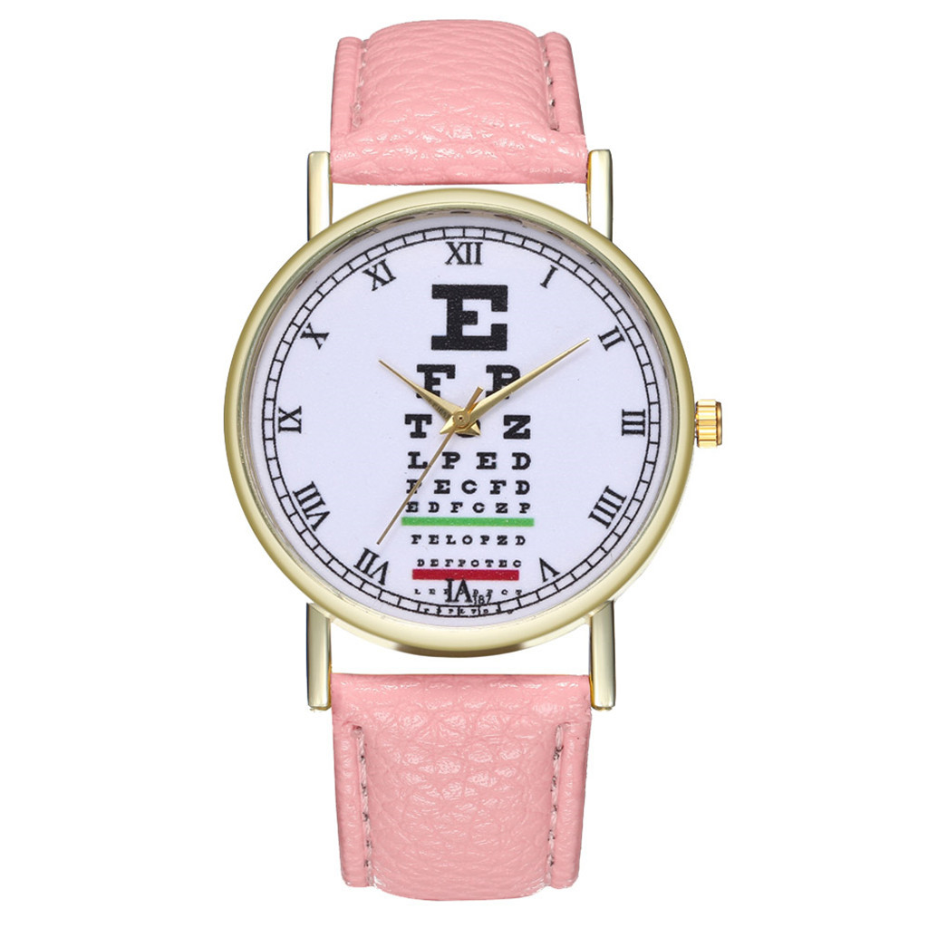 Ladies Watches 2020 Fashion Casual Round Women Watch Male Eye Chart Leather Strap Buckle Simple Girl Clock Quartz Wrist Watches