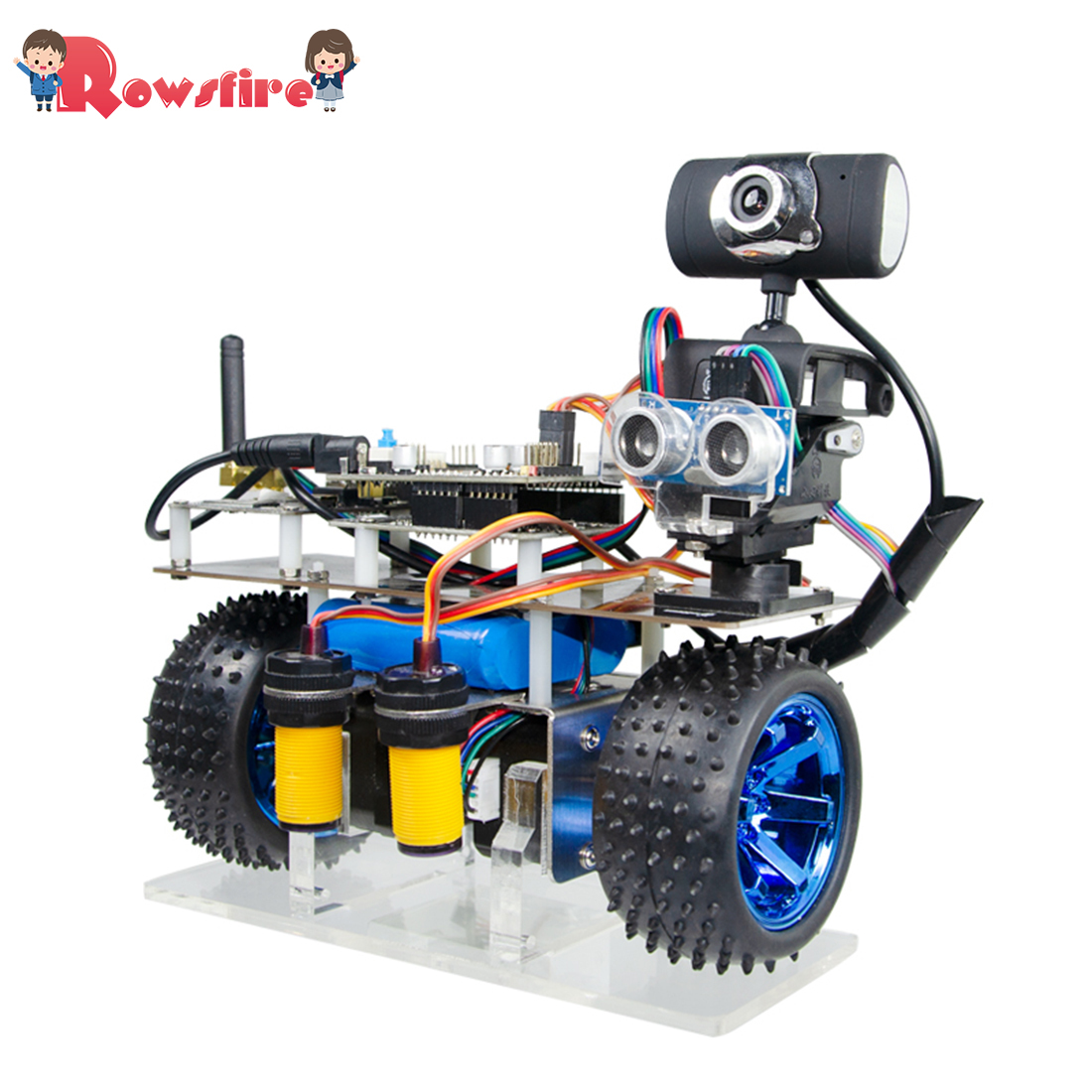 Programmable Intelligent Balance Car WiFi Video Robot Car Support IOS/Android APP RC For STM32 Patrol Obstacle Avoidance Version