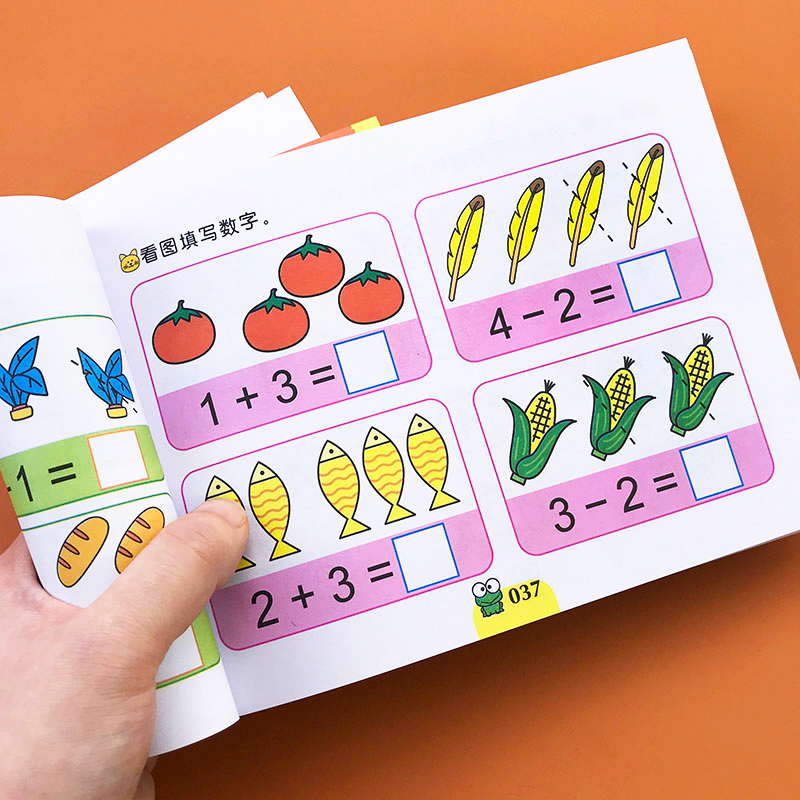 Children Kindergarten Preschool Mathematics Workbook Digital Enlightenment Arithmetic Book Addition And Subtraction Textbooks