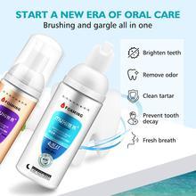 Отбеливание зубов чистящая пена удаляет налет, пятна оральный запах свежее дыхание, яркие зубы зубная паста зубов уход инструмент 60мл