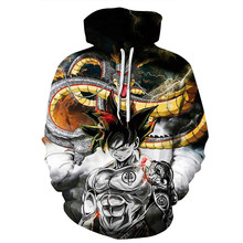 Hot Anime Dragon Ball Super Hoodie Male 3D Sweatshirts Saiyan Goku Printed Outwear Teen Lovers Cartoon Hoody Pullover