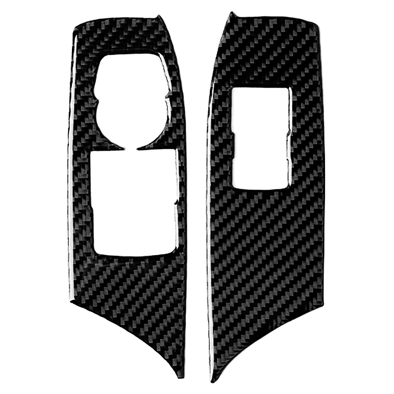 New Carbon Fiber Window Switch Button Panel Cover Trim Fit For Chevrolet Camaro 2017-2019