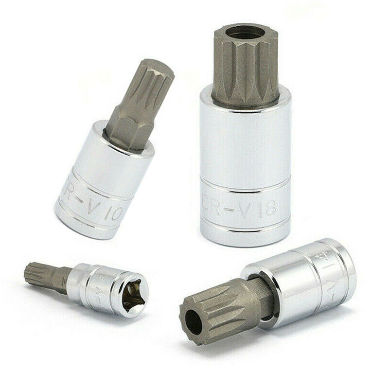 Neiko 10 Pc XZN Triple Square Spline Bit Socket S2 Steel MM 4mm 18mm