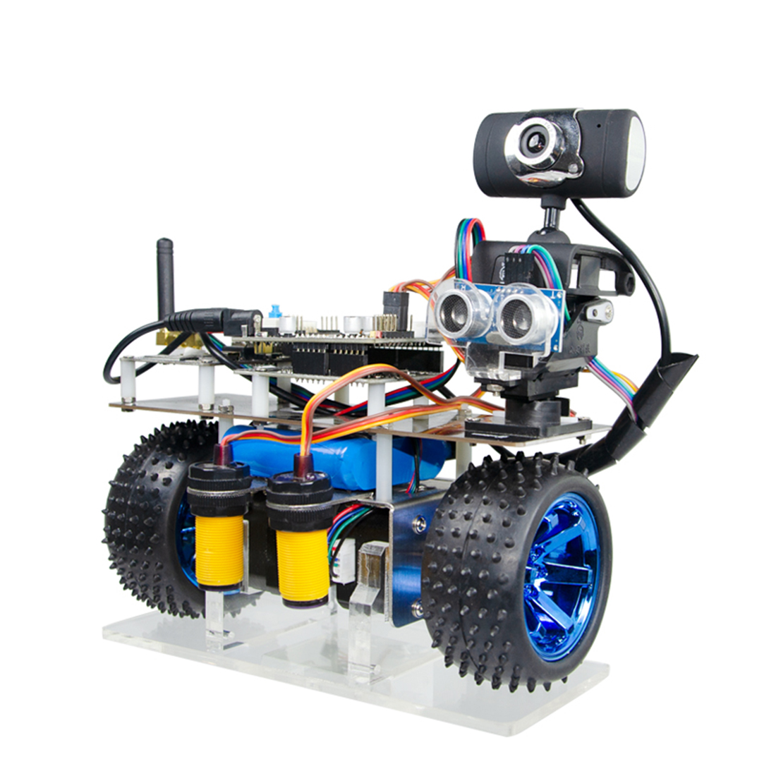 Programmable Intelligent Balance WiFi Video Robot Car Support IOS/Android APP PC RC For STM32- Patrol Obstacle Avoidance Version