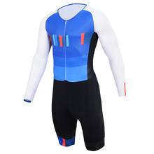 2019 Triathlon Suit One Piece Men and Women's Long Sleeve Skinsuit Jumpsuit Maillot Bike Bicycle Cycling Clothing