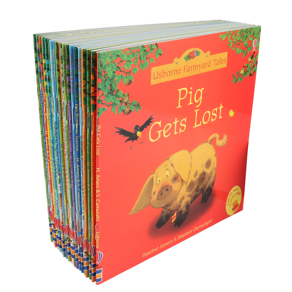 20Pcs/set 15x15cm Usborne Farmyard Picture Books For Children Baby Famous Story English Tales Series Of Child Book Farm Story