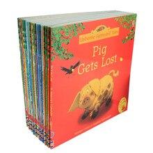 20 шт./компл. 15x15 см Usborne ферма, фотокниги для детей, детская известная история, английские сказки, серия детских книг, ферма