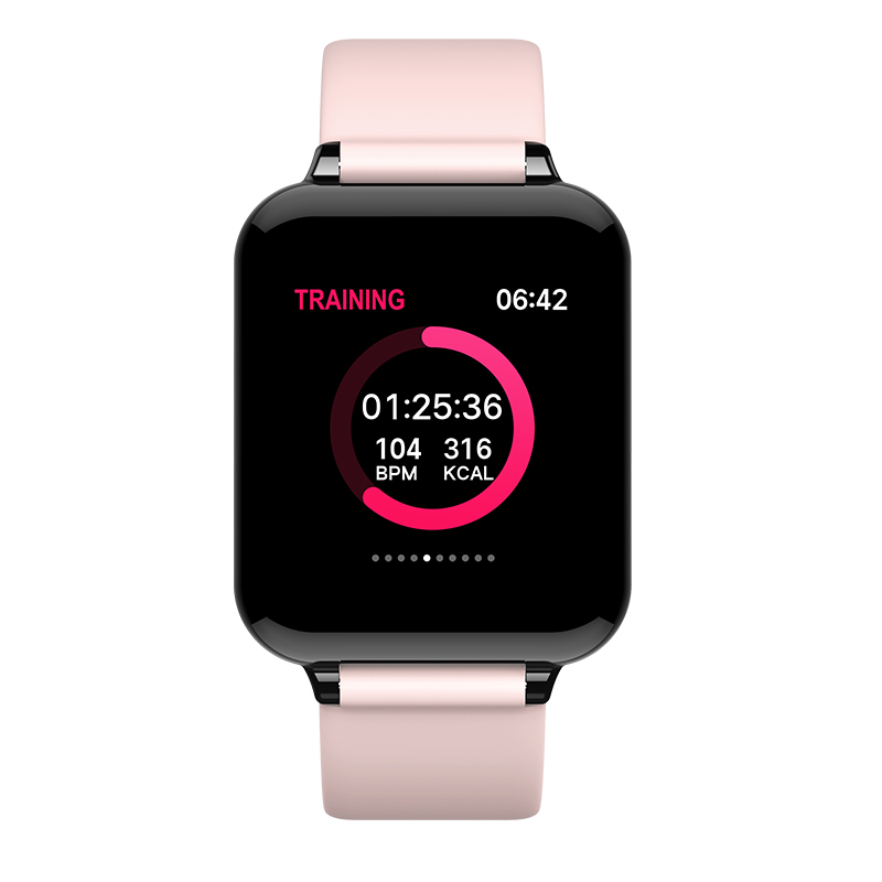 Smart Watch Waterproof B57 Sports Watch For IOS Android Heart Rate Monitor Blood Pressure <font><b>Smartwatch</b></font> PK Q9 P68 <font><b>Y7</b></font> image