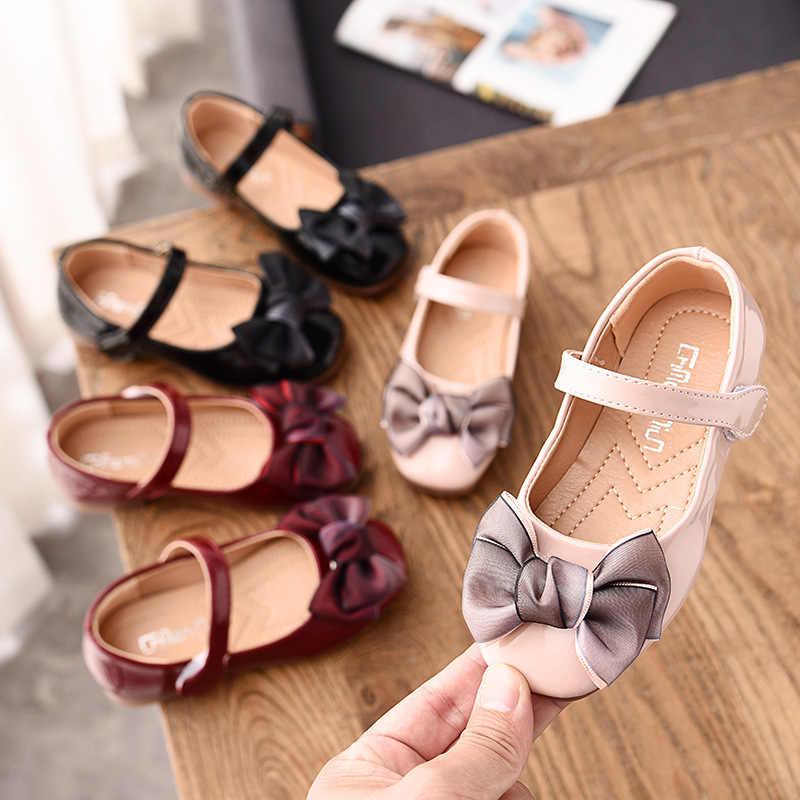 2020 prenses ayakkabı performans Rhinestone Sequins yumuşak rahat çocuklar Flats moda parti elbise yay sevimli kız tek ayakkabı