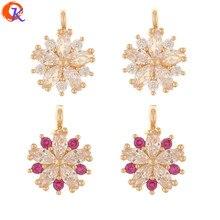 Design cordial 50 pçs 9*12mm acessórios de jóias/pingente de strass/feito à mão/forma de flor/brincos achados/diy fazendo/cz encantos