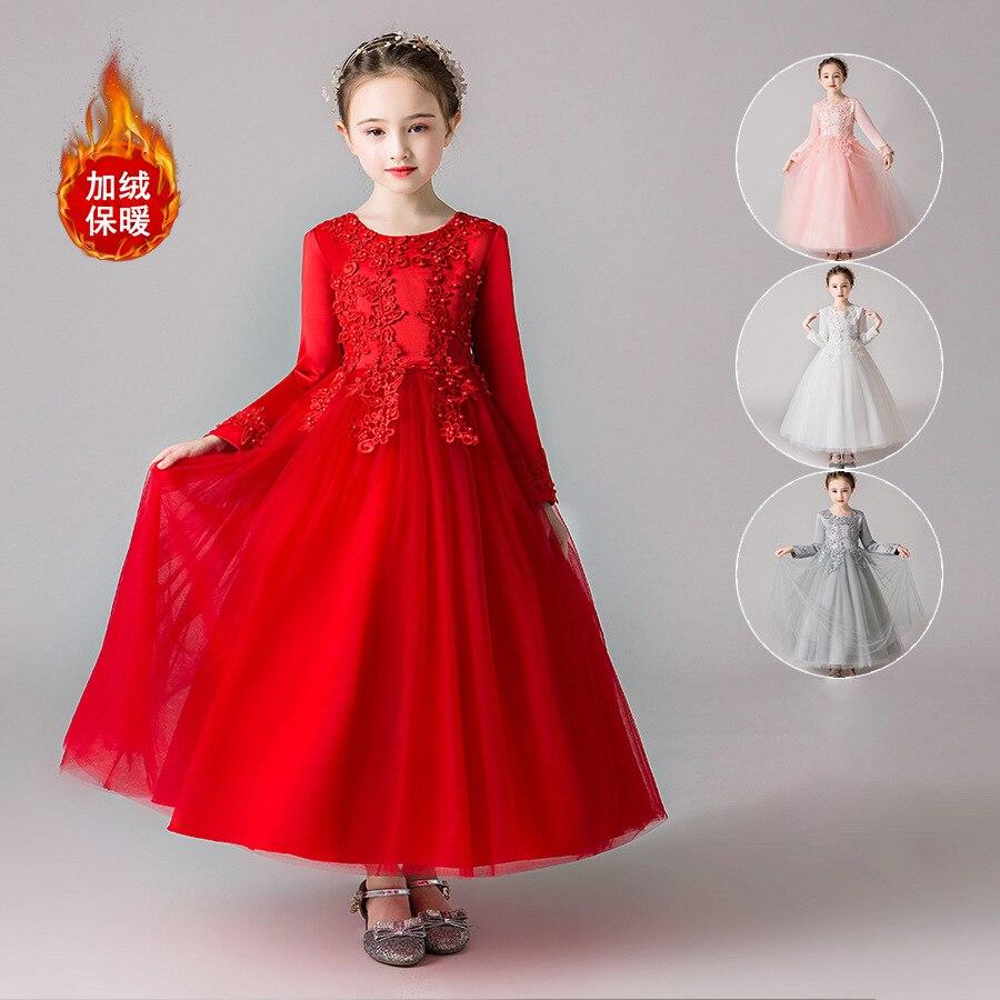 Girls Princess Dress Puffy Mesh Skirt Wedding Dress Evening Dress Long 2019 Autumn And Winter Children Boy's Formal Dress Skirt