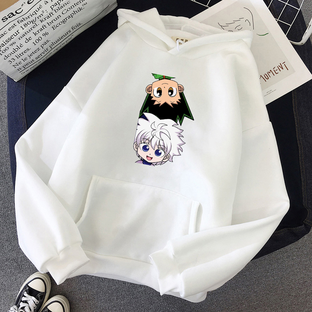 Hot Japanese Anime Hunter x Hunter Hoodies Killua-GON FREECSS Printed Top Women Kawaii Clothes Graphic Casual Hooded Streetwear 1