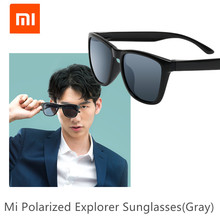 Original XIAOMI Mijia Classic Square Sunglasses Selfrepairing TAC Polarizing Lense No Scew Sunglasses 6 Layer Polarizing Film