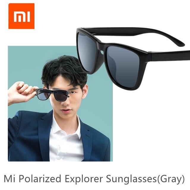 Originele Xiaomi Mijia Klassieke Vierkante Zonnebril Selfrepairing Tac Polariserende Lens Geen Scew Zonnebril 6 Laag Polariserende Film