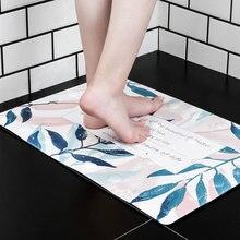 Non-slip Household Bathroom Carpet Concise Anti-slip Suction Cup Square Shape Cute Bath Mat