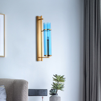Modern metal tube pipe up down LED wall lamp light sconce Bedroom foyer washroom living room toilet bathroom wall light lamp LED