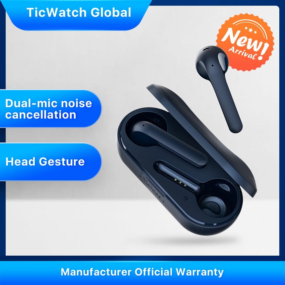 TicPods 2 Pro oryginalne słuchawki bezprzewodowe Bluetooth słuchawki douszne wykrywanie najwyższej jakości dźwięku sterowanie dotykowe/głosowe/gestami 4PX wodoodporne