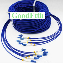 Fiber Armoured armored Patch Cord Patchcord LC-LC UPC SM 6 Cores 100-500m