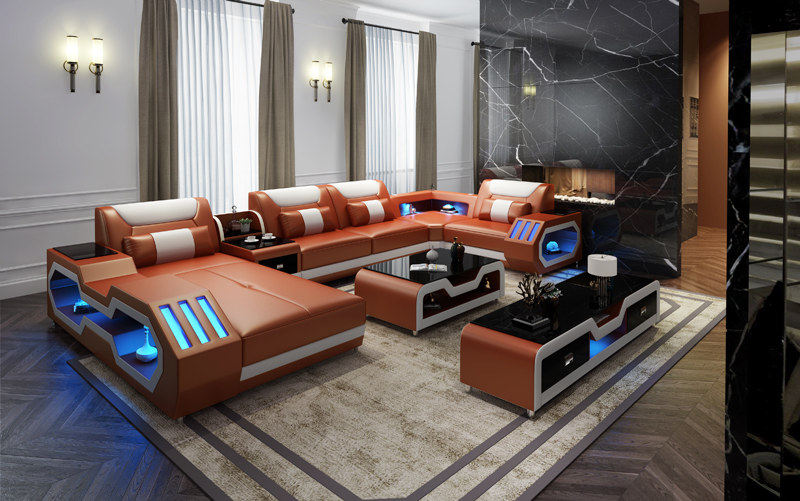 2020 Modern sofa set диван living room furniture muebles de la sala home furniture sofa camas muebles leather sofa 3