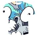 3D T-Shirt New Summer 2021 Anime Comic Men Clothing Irregular Cool Fashion Colorful Stripes Plus Size 110- 6 X L (Customizable)