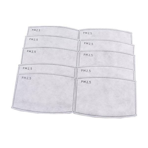 Anti COVID-19 Virus 1pc/2pcs/10pcs/20pcs/Lot PM2.5 Filter Paper Anti Haze Mouth Mask Anti Dust Mask Filter Paper Health Care