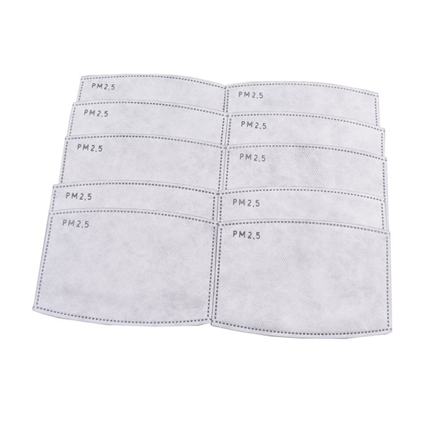 Anti PM2.5 Filter Paper Anti Haze Reusable Breath Mouth Face Mask Health Care Dust Masks Fast Drop Shipping USA Stock Mascarilla