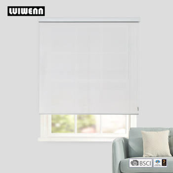 Freeshipping High quality roller blinds light filtering fabric with front valance made to measure size blinds from China factory