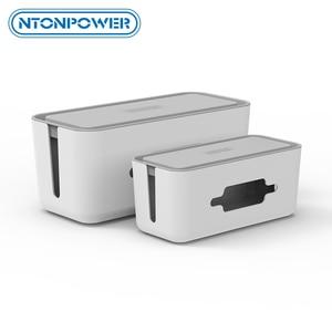 Image 1 - NTONPOWER caja de almacenamiento organizadora de cables, caja organizadora de cables de plástico con soporte, caja de gestión de regleta para el hogar y la Oficina