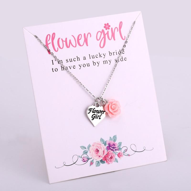 Цепочка для подружки невесты, ожерелье с цветами для подружки невесты, подарок на свадьбу, ювелирное изделие для девушек, Прямая поставка