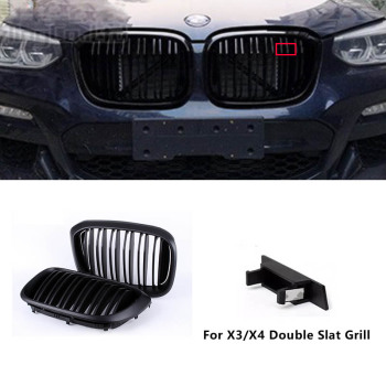 Front Griil Badge For After Market Original Double Slat Grille For X3 F25 X5 F15 X4 F26 X6 F16 X1 F48 Emblem M Color Grill image