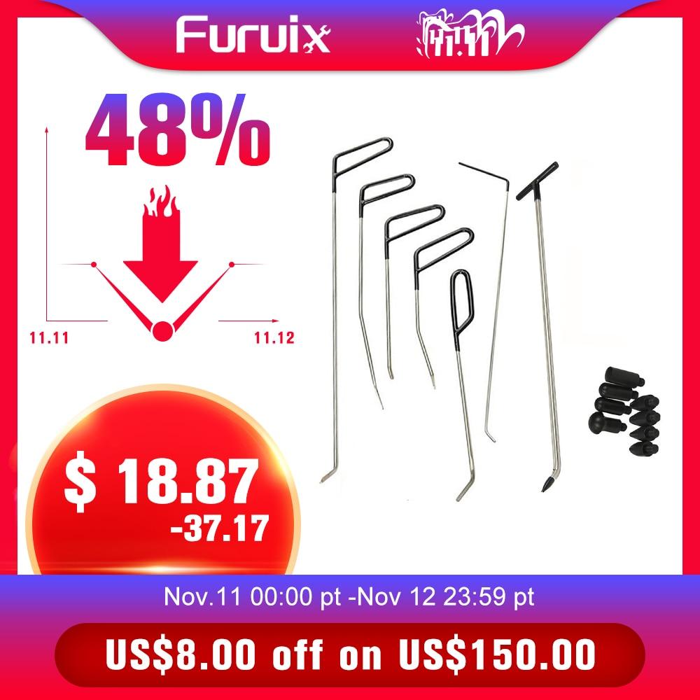 With Dent Pcs 6 Furuix R1 Kit  Rods C Tools Removal Hooks 1PC  Push Repair Rod Amp Tap Hook Dent Down