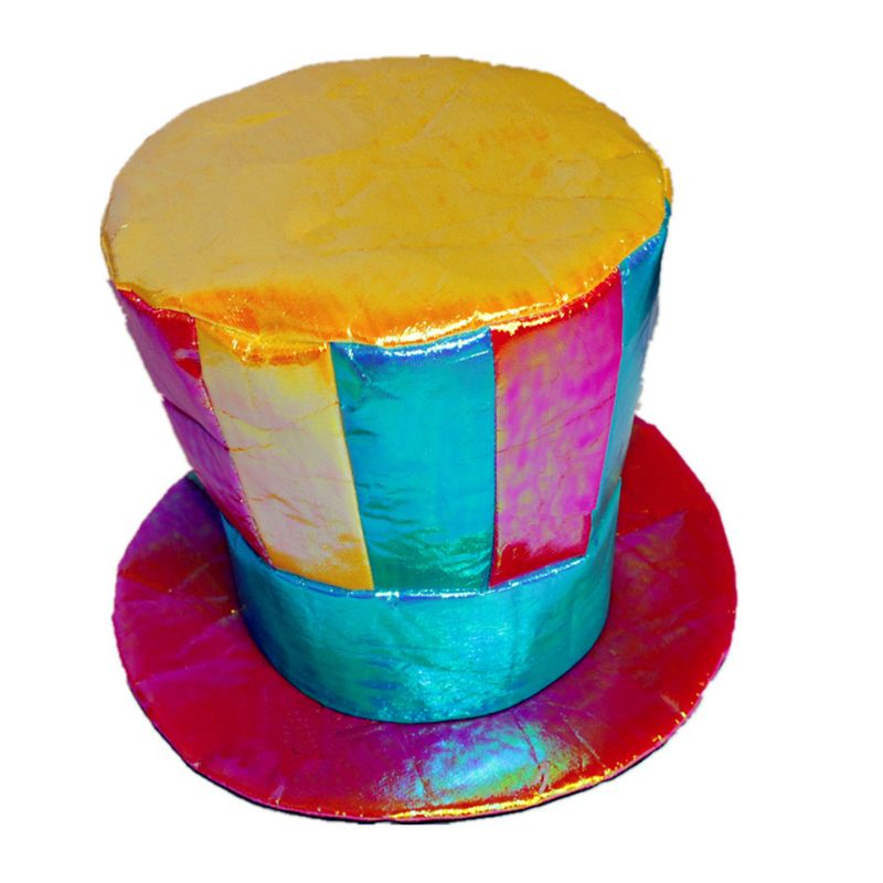 Flat Top Hat Trick Prop Stage Jester Magic Magician Hats Props Accessories 40JF title=