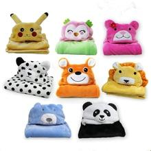 Милое флисовое детское банное полотенце милая форма животных детское полотенце с капюшоном халат Плащ детское одеяло для новорожденных