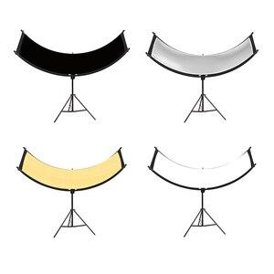 Image 2 - U typed Reflector flash reflector four color reflective Curved Reflector Portrait Headshot Sliver Black 90 Degree photography
