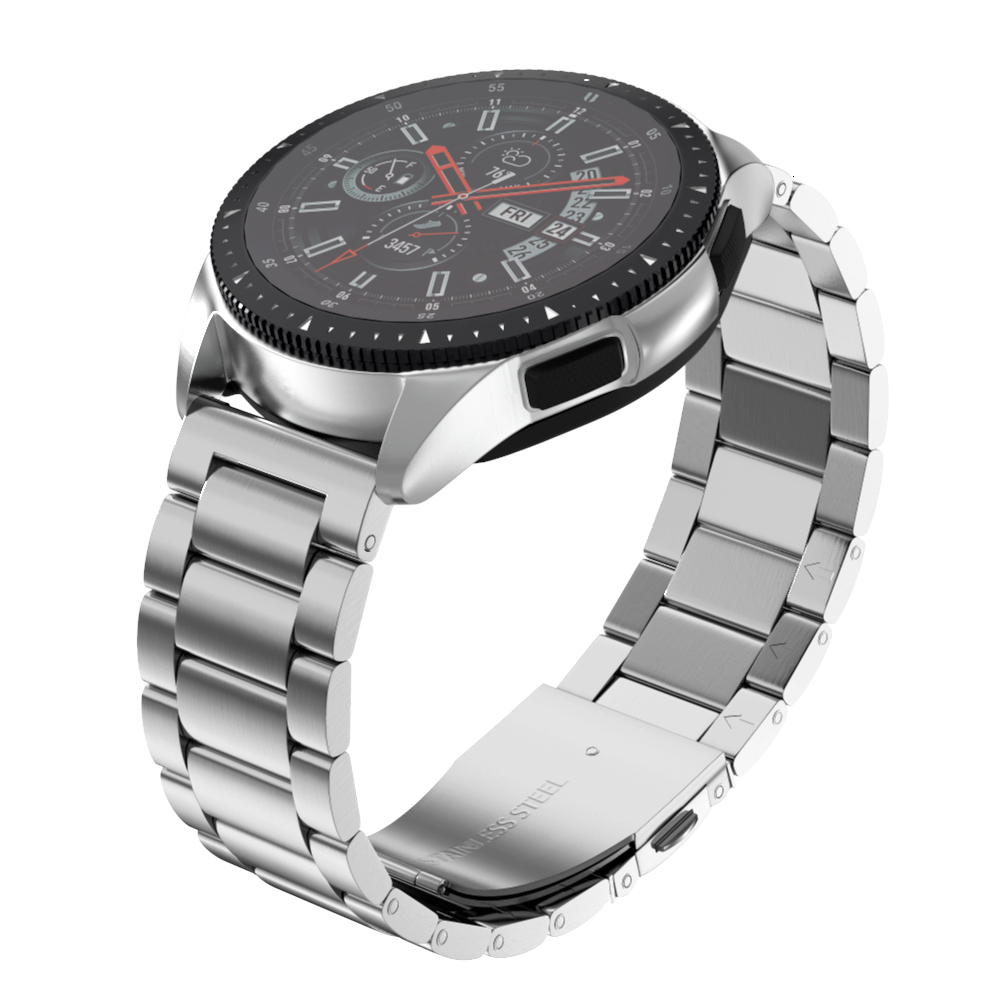 18mm Stainless Steel Strap For Samsung Galaxy Watch 42mm 46mm Band With 20mm 22mm Width Wristband Metal Three Links Watch Band
