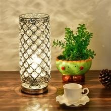Modern Table Light Crystal LED Table Lamps Beauty Eyeshield Desk Lamps Home Bedroom Living Room Decoration Bedside Desk Light
