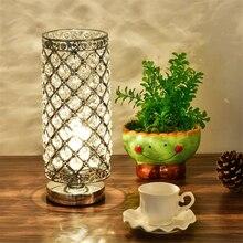 Nowoczesna stołowa kryształowe światło lampy stołowe LED Beauty Eyeshield lampy biurkowe strona główna sypialnia salon dekoracja nocne biurko światło