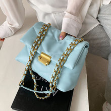 Fashion Candy Colors Chain Design Women's Shoulder Bags 2021 Spring New Luxury Quality Handbags Female Pu Leather Crossbody Bag