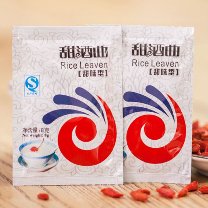 5 Packs Chinese Sweet Rice Wine Fermentation Starter Leaven Powder Making Material Home Brewing