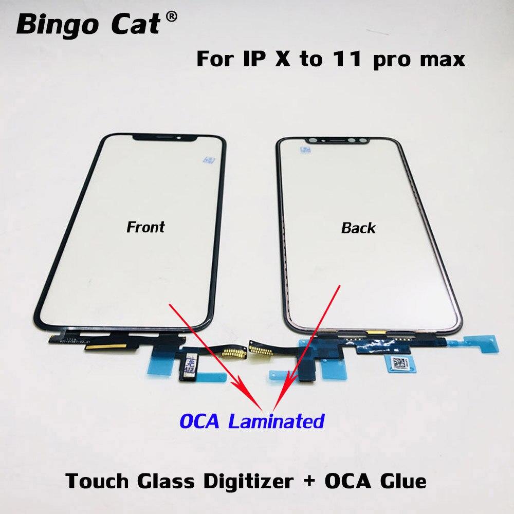 Оригинальный сенсорный ЖК-экран дигитайзер Сенсорное стекло + OCA Пленка Клей вместе для iPhone 12 11 pro X XR XS max ремонт стекла экрана