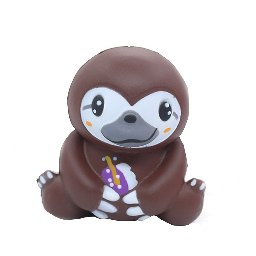Slow Rebound Toy Simulation Sloth Gift Toy Slow Rising Squeeze Toys Slow Rising Antistress Toy Childrens Party Decorations #A
