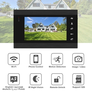 Image 2 - HomeFong Smart WiFi Video Doorbell 7 Inch Wireless Door Intercom With Motion Sensor And  Real Time Control Access Control System