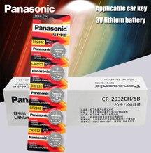 Panasonic ОРИГИНАЛ 100 шт./лот cr 2032 кнопочные батарейки 3 в монета литиевая батарея для часов пульт дистанционного управления калькулятор cr2032