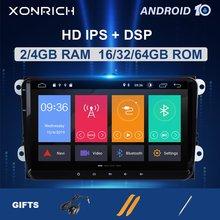 Dsp 64gb 2 din rádio automotivo para android 10, navegação gps para amarok vw passat b6 golf 56 skoda superb 2 multimídia seataltea