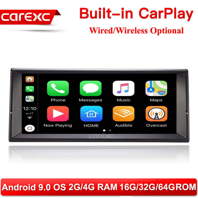 CarExc 10.25 Inch HD Screen 1 din Android 9.0 Car Multimedia Player With CarPlay Radio Stereo for BMW E38 E39 E53 X5 Head Unit image
