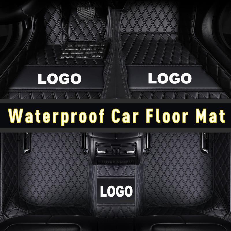 Carfunny tapetes do assoalho carro de couro à prova dwaterproof água para mitsubishi outlander pajero v73 v93 v97 esporte asx lancer acessórios carro