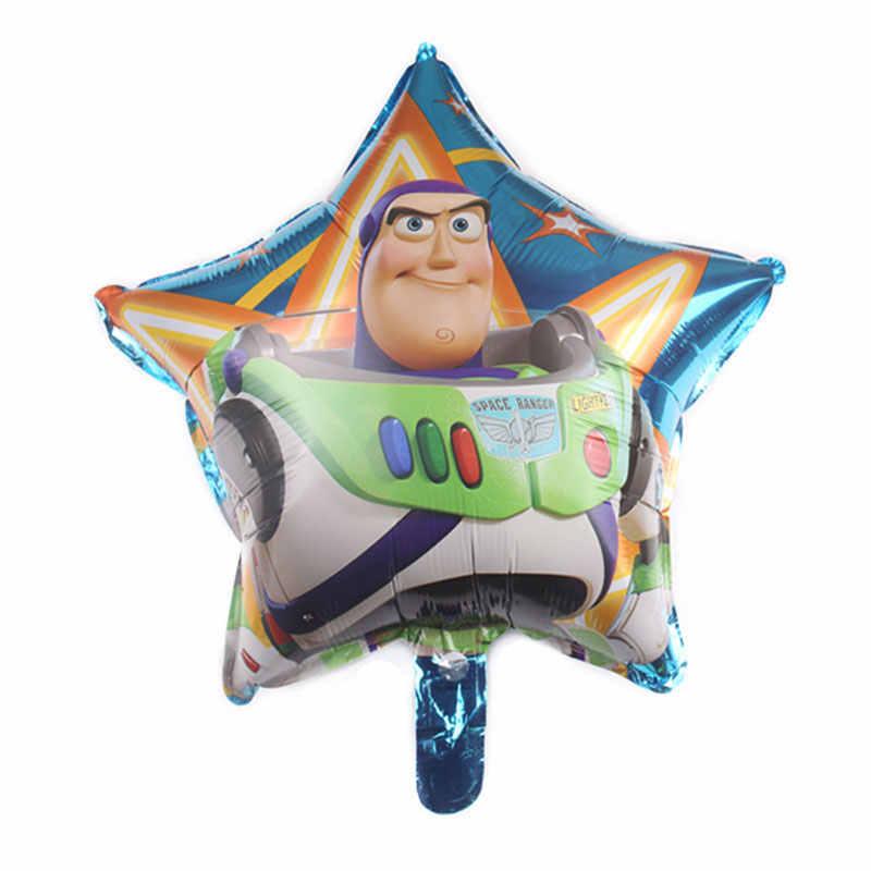 1 sztuk toy story motyw 18 cal balon z folii aluminiowej Baby Shower Boys dekoracja urodzinowa ślubne kolorowy balon dostaw