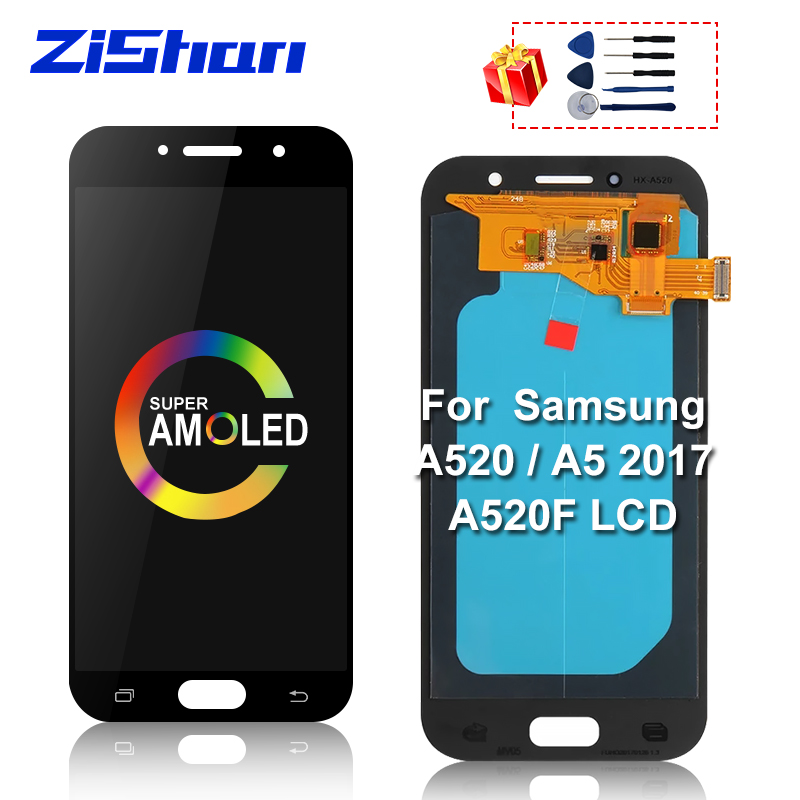 Super AMOLED LCD For Samsung Galaxy A5 2017 A520 A520F SM-A520F LCD Display Touch Screen Digitizer Assembly Parts For A520 LCD