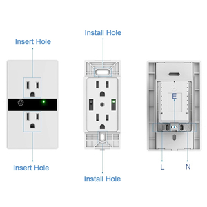 Image 4 - WiFi Smart Electric Wall Socket US Wireless Plug Outlets Touch Panel Control Lights Home Appliances Work with  Alexa Google